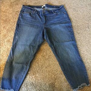 Loft plus cropped skinny jeans 22W